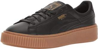 Puma Women's Basket Platform Core Sneaker, Black Black,8.5 M US