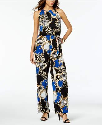 Thalia Sodi Printed Keyhole Jumpsuit
