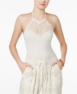 American Rag Crochet-Inset Bodysuit, Only at Macy's $34.50 thestylecure.com