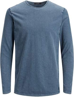 Jack and Jones Crew Neck Cotton Long-Sleeve T-Shirt