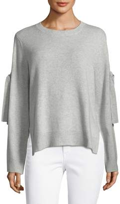 BCBGMAXAZRIA Women's Multi-Tie Sleeve Sweater