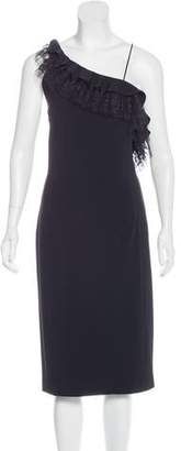 ADAM by Adam Lippes Lace-Accented Midi Dress w/ Tags