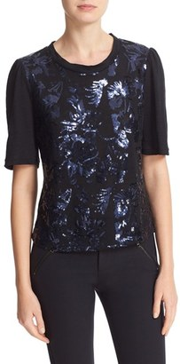 Women's Rebecca Taylor Sequin Jersey Tee $295 thestylecure.com