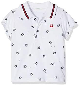 Benetton Baby Girls' H/s Polo ShirtOne (Size: 62)