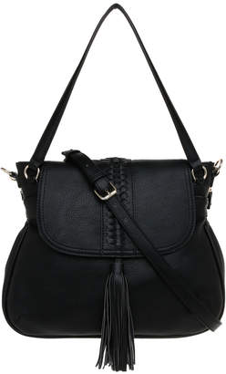 Jag Weave & Tassel Flap Over Crossbody Bag JH-0027