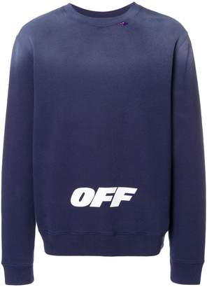 Off-White faded logo sweatshirt