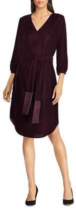 Ralph Lauren Belted Velvet Dress