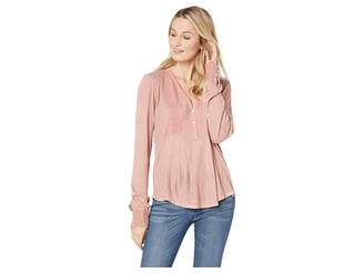 Lucky Brand Lace Mix Drop Needle Top