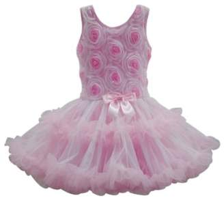 Popatu Ribbon Rosette Flower Petidress (Baby Girls)