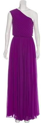 Halston One-Shoulder Evening Dress