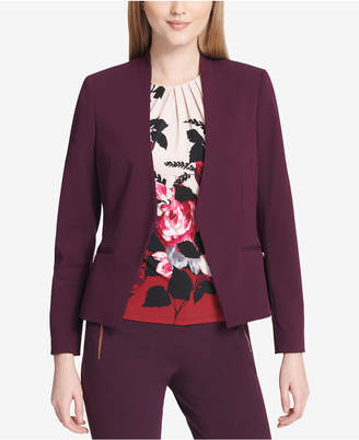 Calvin Klein Collarless Open-Front Blazer, Regular & Petite