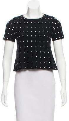 Tanya Taylor Short Sleeve Knit Top