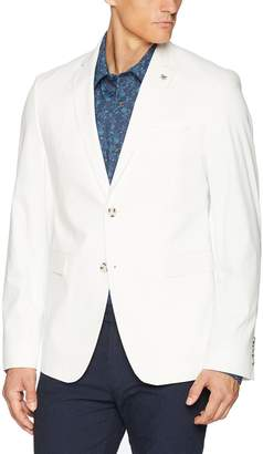 Original Penguin Men's Two Button Slim Fit White Cotton Twill Suit Separate Jacket