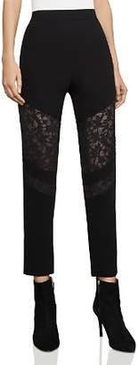 BCBGMAXAZRIA Boa Lace-Inset Pants