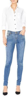Alice + Olivia Jane Embroidered Skinny Jeans, Blue $298 thestylecure.com