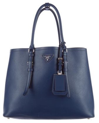 prada Prada Medium Saffiano Cuir Double Handle Tote