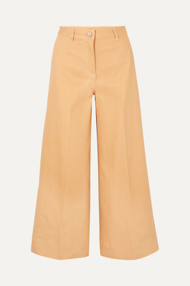 Elizabeth and James Ace High-rise Wide-leg Jeans - Camel