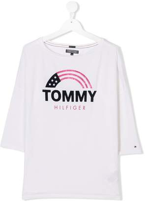 Tommy Hilfiger Junior TEEN dropped shoulders T-shirt