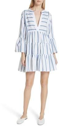 Caroline Constas Lyssa Cotton & Linen Blend Dress
