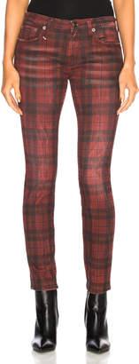 R 13 Kate Skinny in Red Plaid | FWRD