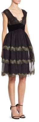 Alberta Ferretti Silk Lace Dress