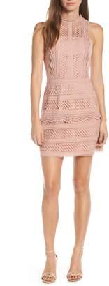 Adelyn Rae Noelle Mock Neck Lace Dress