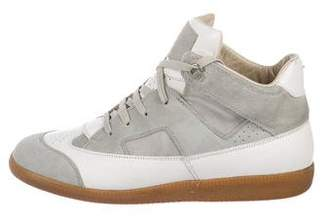 Maison Margiela Leather Replica High-Top Sneakers