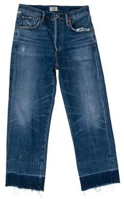 Citizens of Humanity Distressed Mid-Rise Straight-Leg Jeans