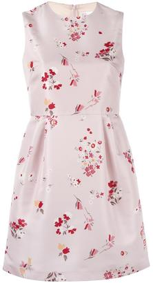 Red Valentino floral print flared dress $695 thestylecure.com
