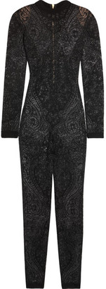 Balmain - Stretch-lace Jumpsuit - Black $2,560 thestylecure.com
