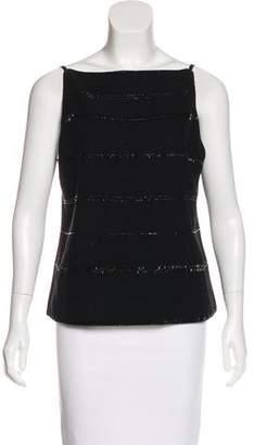 Donna Karan Embellished Cashmere Blend Top