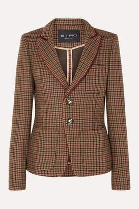 Etro Houndstooth Wool-blend Blazer - Light brown