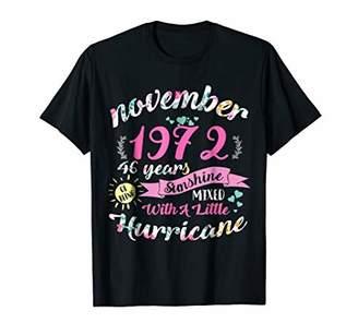 Womens November Girls 1972 Shirt 46th Birthday Gifts T-Shirt