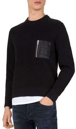 The Kooples Zip-Pocket Sweater