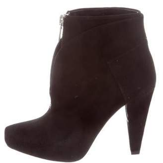 Proenza Schouler Suede Ankle Boots Black Suede Ankle Boots