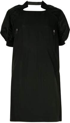 Sacai puff sleeve shift dress