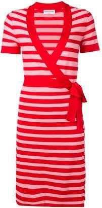Sonia Rykiel striped knit wrap dress