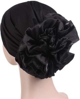 beauty YFJH Muslim Women Flower Elastic Turban Beanie Head Scarf wrap Chemo Cap Hat for Cancer Patient
