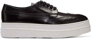 Prada Black Platform Oxford Brogues