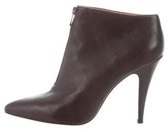 Sigerson Morrison Leather Pointed-Toe Booties