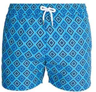 Frescobol Carioca - Sports Angra Print Swim Shorts - Mens - Blue Multi