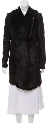 Helmut Lang Leather-Trimmed Fur Jacket