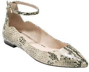 Women's Cole Haan Millicent Ankle Strap Skimmer Flat $160 thestylecure.com