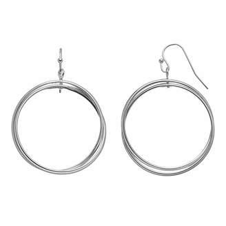JLO by Jennifer Lopez Crisscross Drop Hoop Earrings