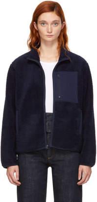YMC Navy Fleece Pilgrim Zip-Up Jacket