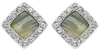 Adore Resin & Pavé Stud Earrings