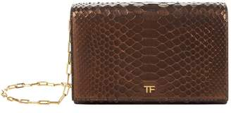 Tom Ford Python Metallic Wallet Bag