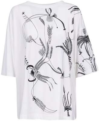 Dries Van Noten Floral Embroidered T-shirt