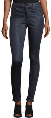 J Brand Maria High-Rise Skinny Coated Pants