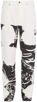 Calvin Klein Abstract-print denim jeans